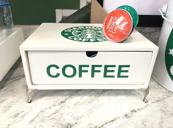 Gaveta Coffee Branca com pé de Metal