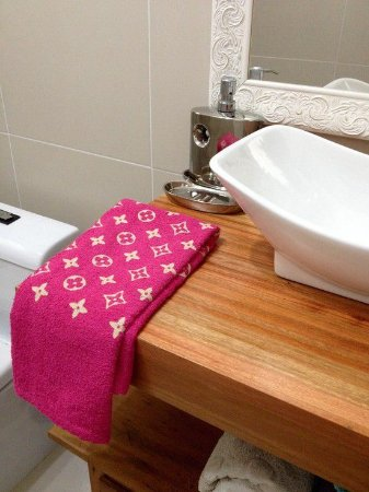 Toalha Lavabo Chic Pink