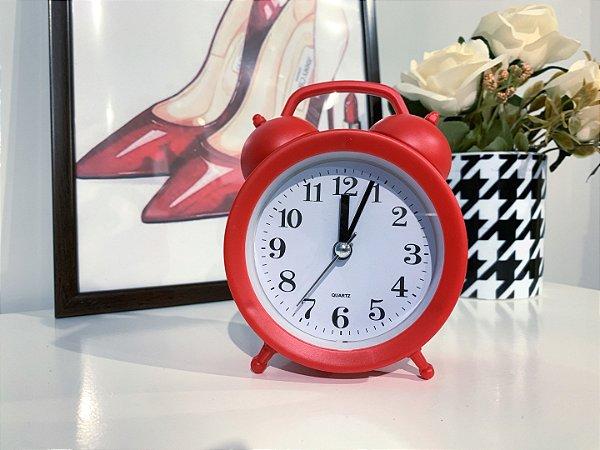 Relógio Despertador Vermelho