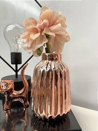 Mini Vaso riscado Rose Cerâmica