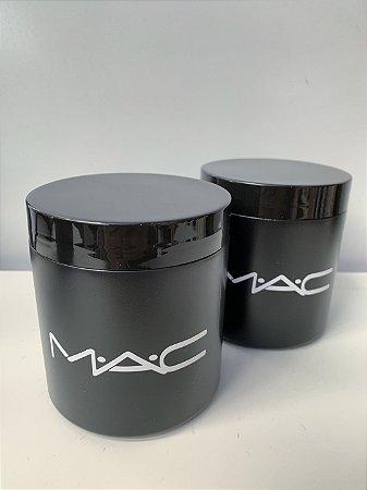 Kit Porta cotonete e Algodão Mac preto