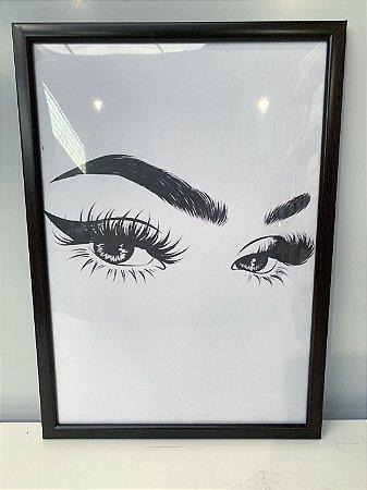 Quadro Olhar Feminino 2 Moldura Preta