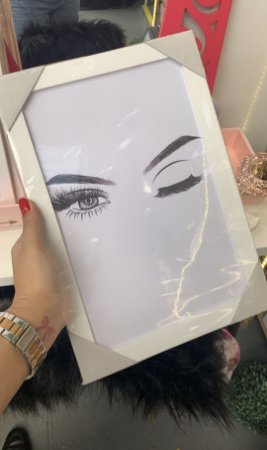Quadro Olhar Moldura Branca