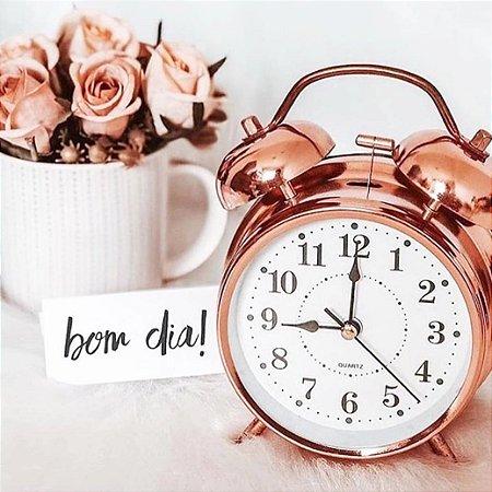 Relógio Despertador Retro Rose