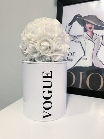 Lata porta Treco Vogue Branco