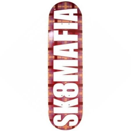Shape Sk8mafia Logo Plaid Red 8.0