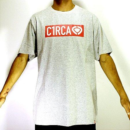 Camiseta T-Shirt Label Logo C1rca Cinza Mescla