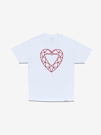HEART CUT TEE - WHITE - TAM. G