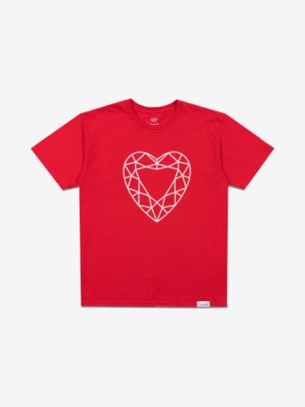 HEART CUT TEE - RED - TAM. G