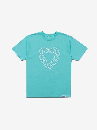 HEART CUT TEE - DIAMOND BLUE - TAM. G