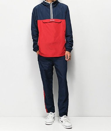 Primitive Taped Anorak red/navy XL - Tam. GG