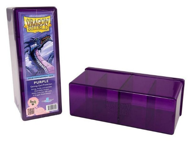 Dragon Shield Four Compartment Box - Purple