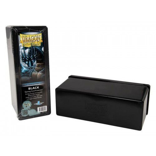 Dragon Shield Four Compartment Box - Black