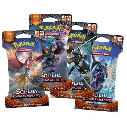 Booster Pokémon: Sol e Lua  - Sombras Ardentes (Blister)