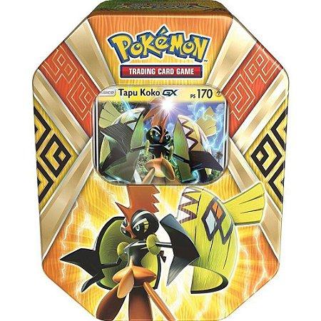 Pokémon Lata Guardiões das Ilhas - Tapu Koko GX