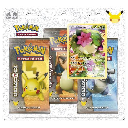 Blister Triplo Pokemon Míticos - Shaymin