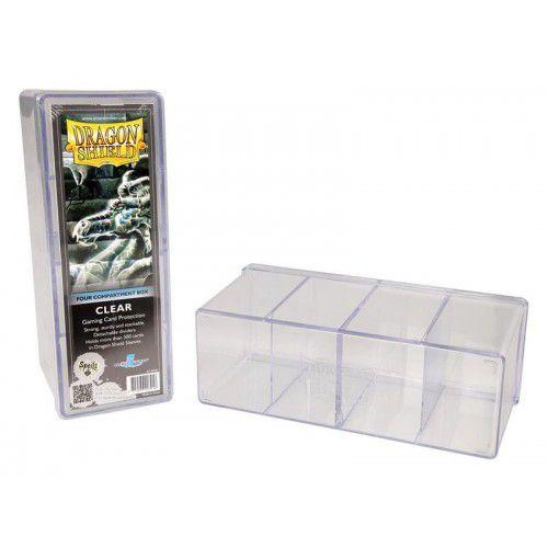 Dragon Shield Four Compartment Box - Clear