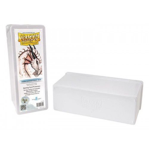 Dragon Shield Four Compartment Box - White