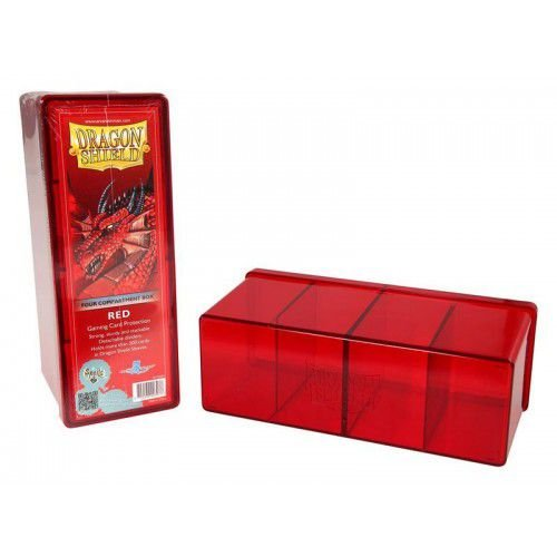 Dragon Shield Four Compartment Box - Red