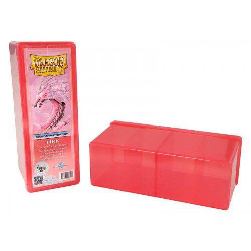 Dragon Shield Four Compartment Box - Pink