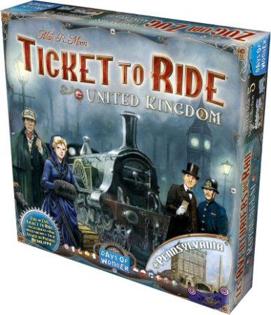 Expansão Ticket to Ride - Reino Unido e Pensilvânia