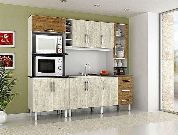 fd0b5a4e61 Cozinha Montreal Kalahari Montana MDF Dacheri - Versátil Móveis e Eletro