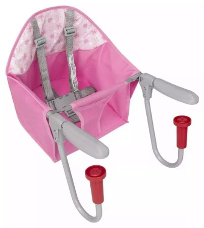 Cadeirinha Refeição rosa Para Mesa Alimentação Bebê Dobrável