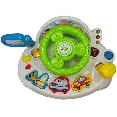 Volante brinquedo infantil com luz e som multikids baby