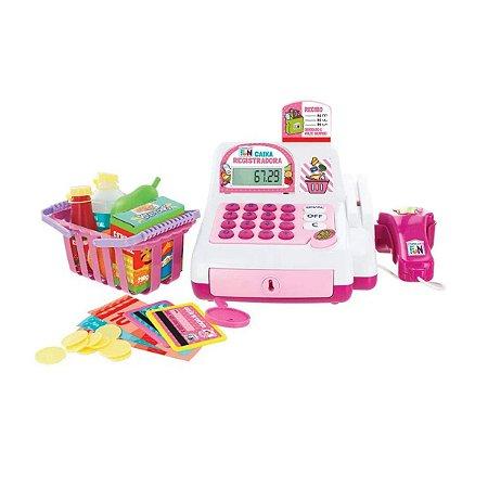 Caixa Registradora Infantil Com Calculadora Luz Som Scanner