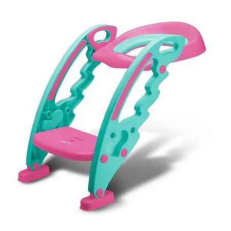 Assento Com Redutor Escada Vaso Trono Troninho Infantil rosa multikids baby