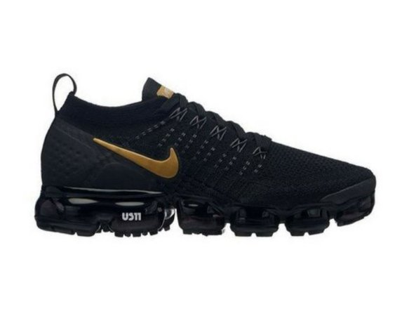 new products af3a1 613f3 TÊNIS NIKE AIR MAX VAPORMAX 2 FLYKNIT 2018 - PRETO E DOURADO