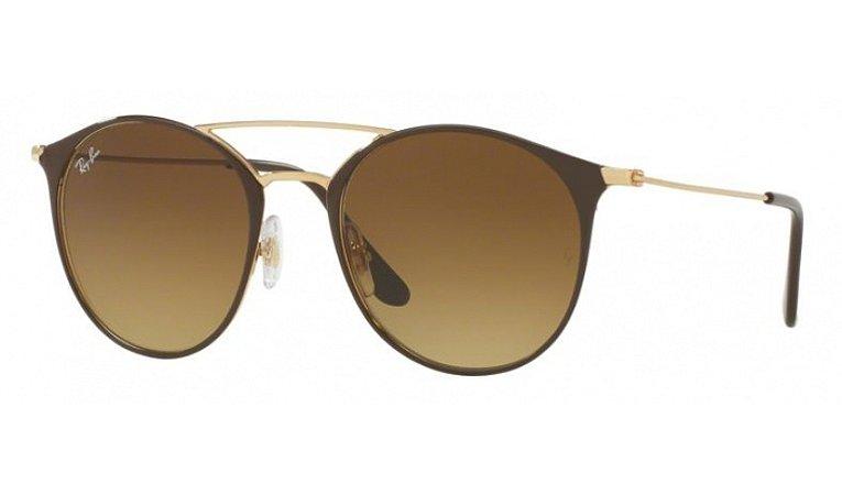 Óculos Ray-Ban - 0RB3546 Highstreet - Gold Top Brown 900985/52