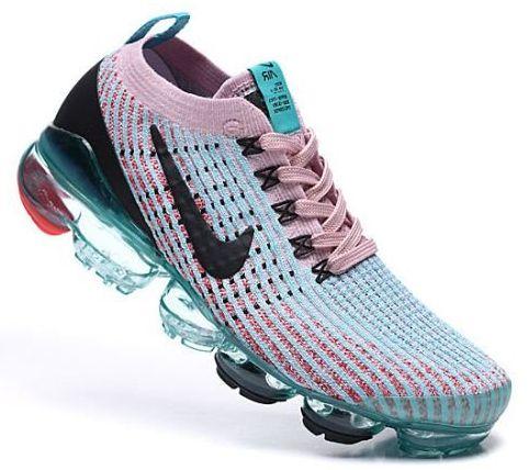 Tênis Nike Air VaporMax 3  - Verde e Rosa