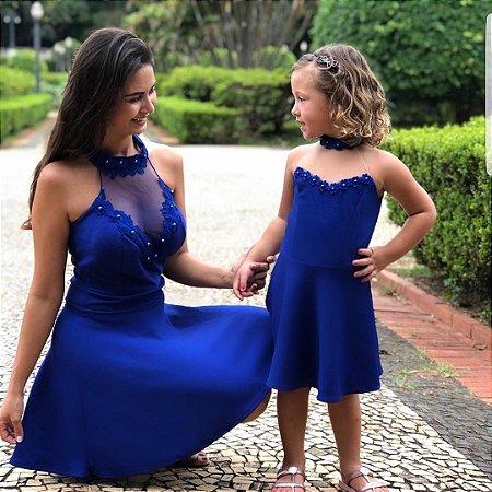 Vestido Mãe e Filha Com Tule