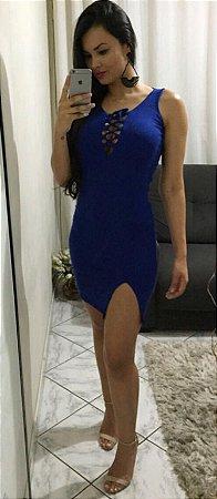 Vestido curto azul