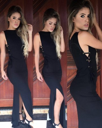 Vestido longo preto