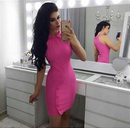 Vestido curto rosê arraso :)