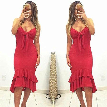 Vestido red deslumbrante