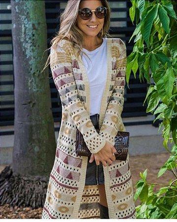 Sobretudo em tricot maravilhoso
