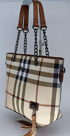 Bolsa maravilhosa com estampa Burberry inspired