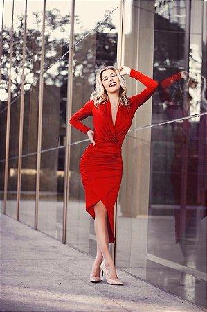 Vestido vermelho MA-RA-VI-LHO-SO