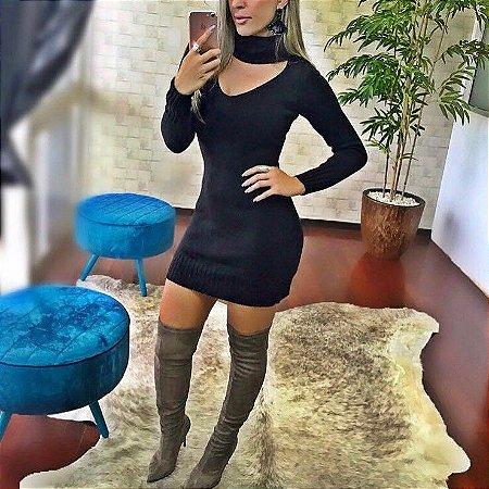 Vestido em tricot black divino