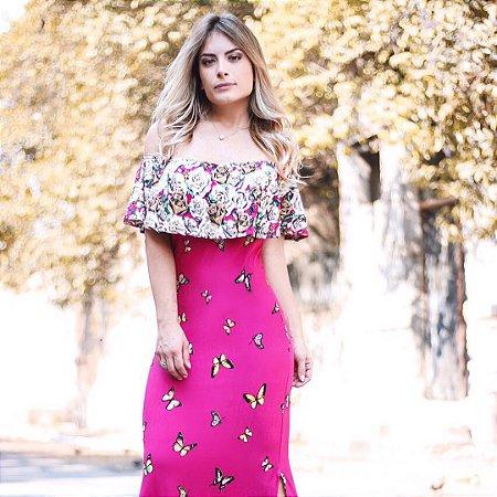 Vestido ciganinha pink
