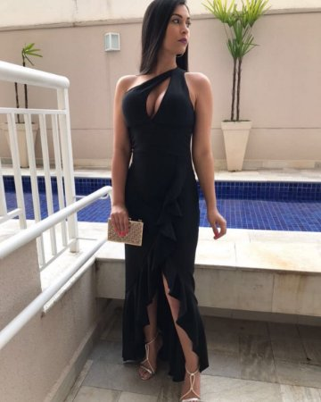 Vestido baphonico com babadinho black