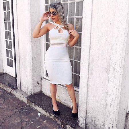 Vestido midi deusa white