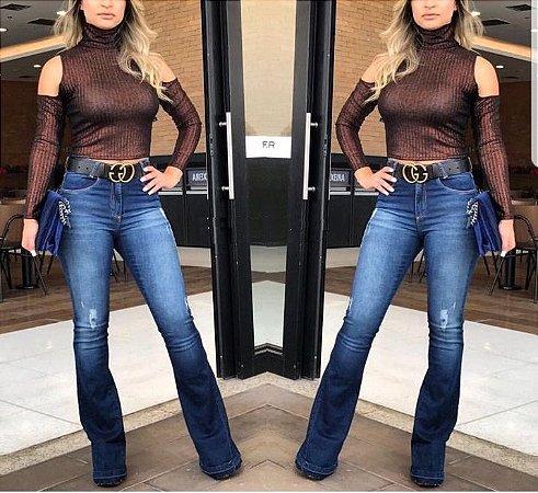 Calça jeans flare blue