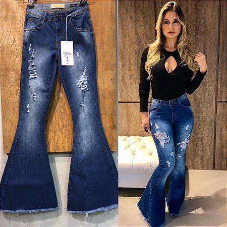 11234fc1c Calça jeans maxi flare destroyed - Madame Ninna , loja de calças ...