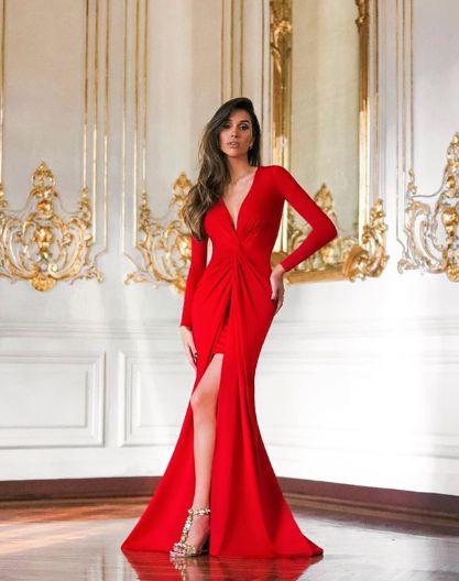 Vestido de festa Paris - Vermelho