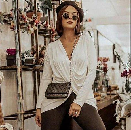 Blusa transpassada - Off white
