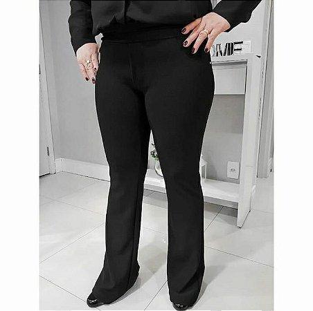 7749bc5b5 Calça flare em malha crepe plus size - Madame Ninna , loja de calças ...